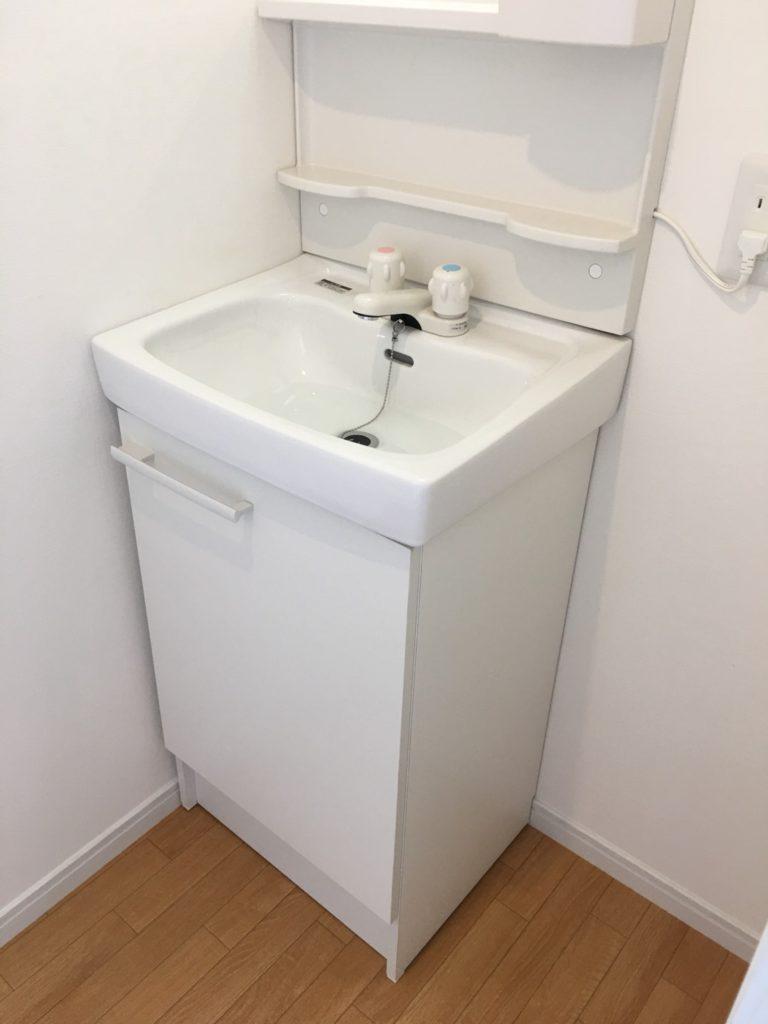 【施工実績:3】洗面台のリフォーム工事:東京都羽村市