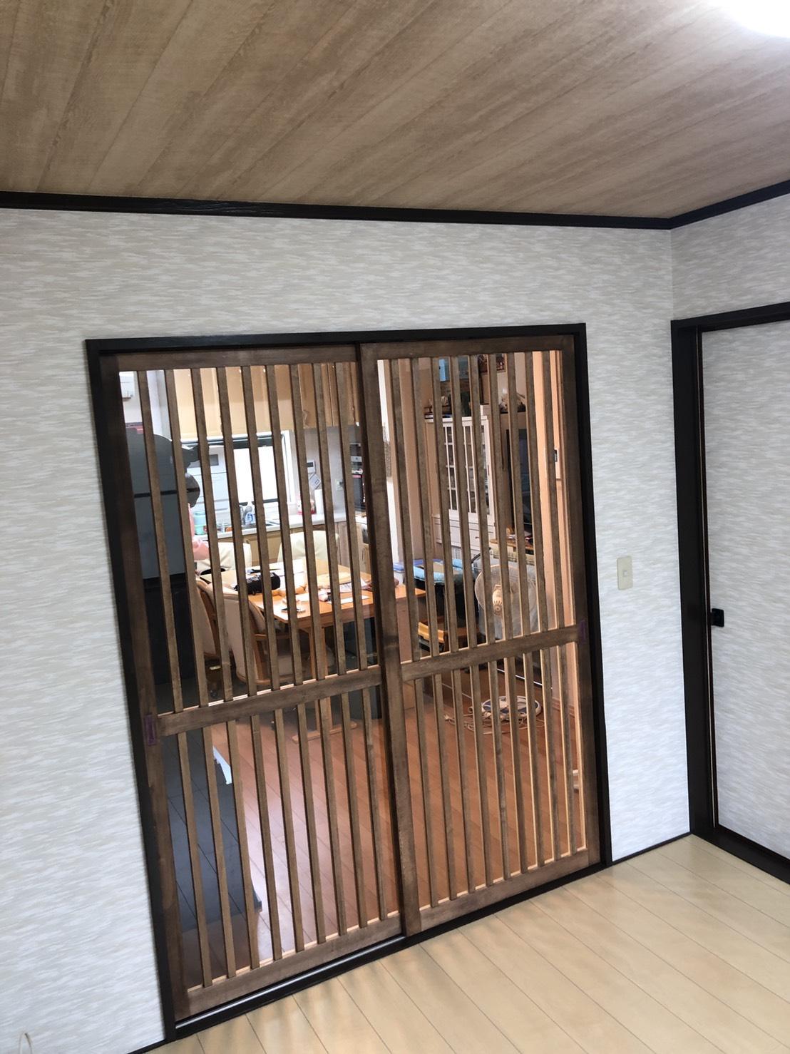 【施工実績:17】建具などのリフォーム工事(和室を洋室に):東京都羽村市